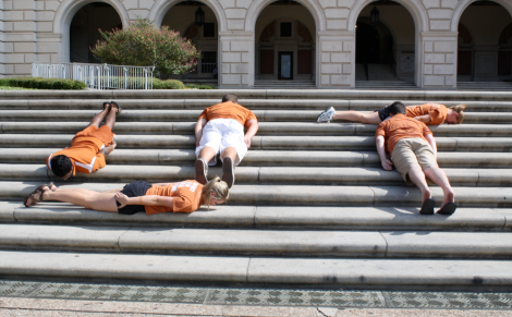 planking at UT to protest high tuition  times of texas