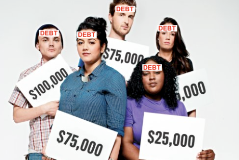 TIMES OF TEXAS  DEBT  COLLEGE DEBT