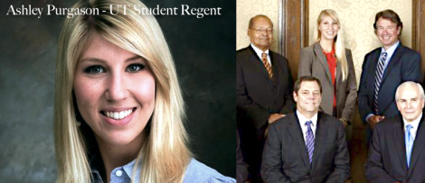 ashley Purgason  UT regent student  UT regents
